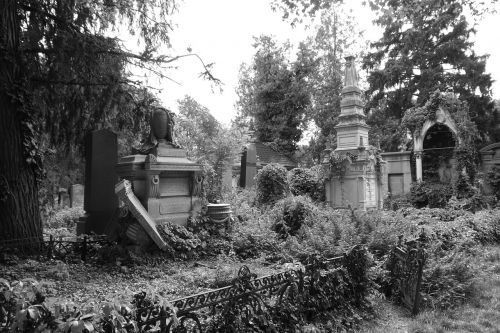 old jewish cemetery vienna broken tombs