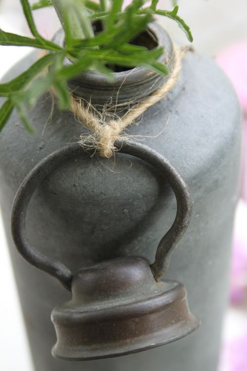 old jug zinc brocante