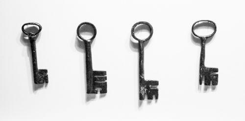 old keys historic metallic