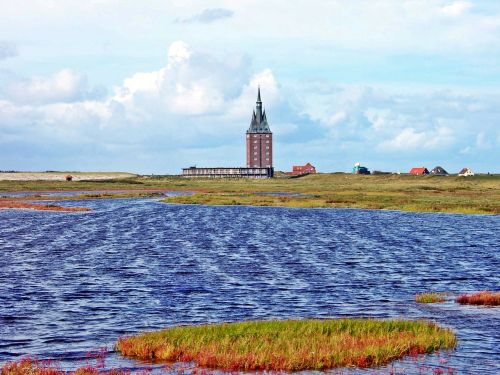 old lighthouse wangerooge salt lake