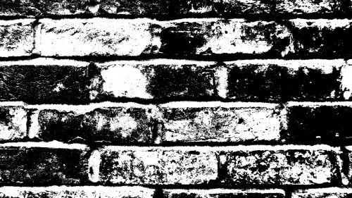 Old Line Art Brick Wall