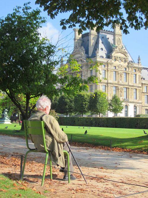 old man louvre palace pavillon de marsan