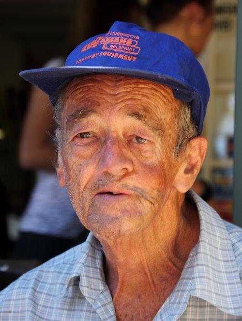 old man wrinkle retired