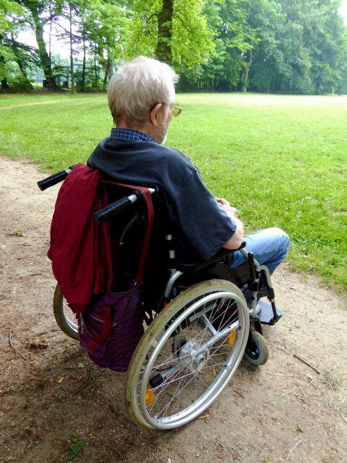 old man senior wheelchair
