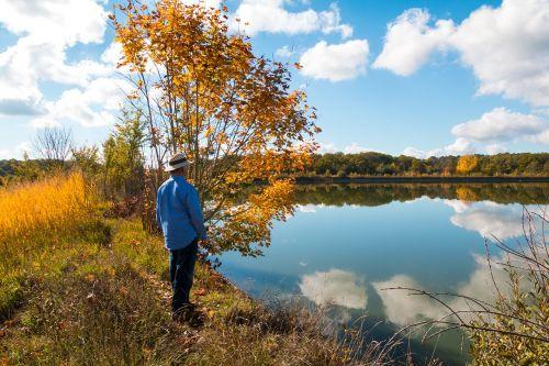 old man bank lake