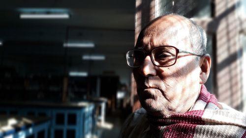 old man wrinkles portrait