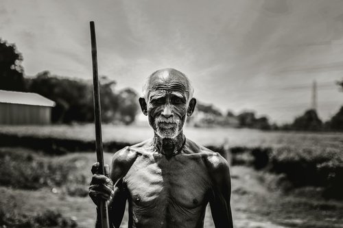 old man  indian people  poor man