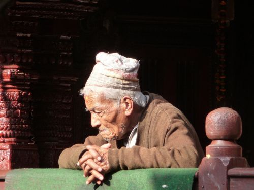 old man nepal kathmandu