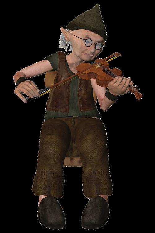 old man violinist violin