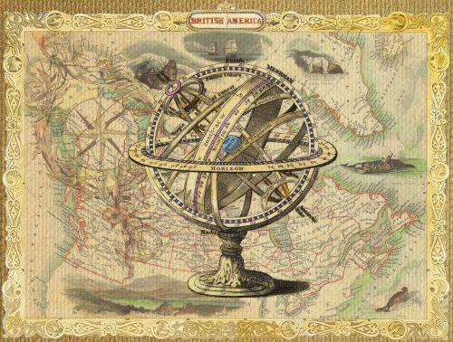 Old Map British Nautical Collage