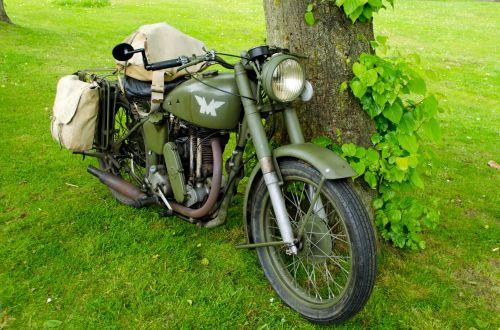 Old Military Motorbike