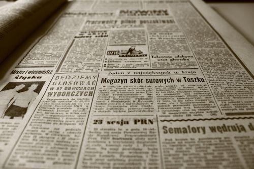 old newspaper newspaper the 1960s