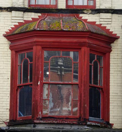 Old Oriental Style Oriel Windows