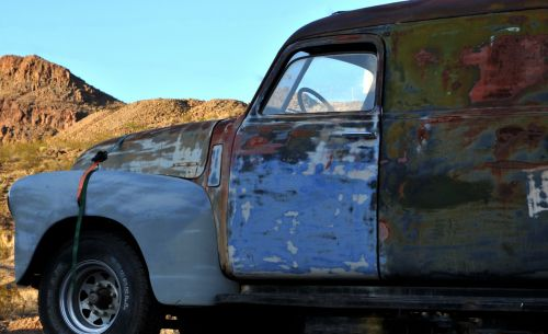Old Oxidized Panel Truck