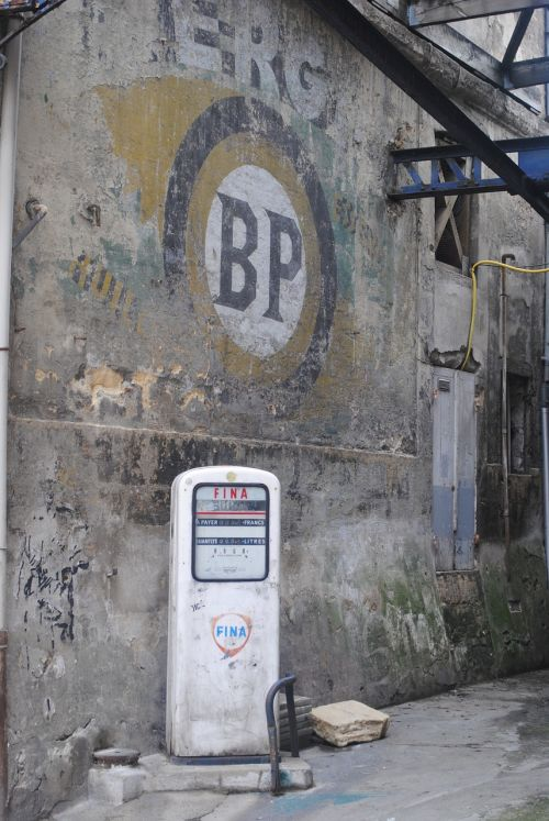 old petrol pump garage pump