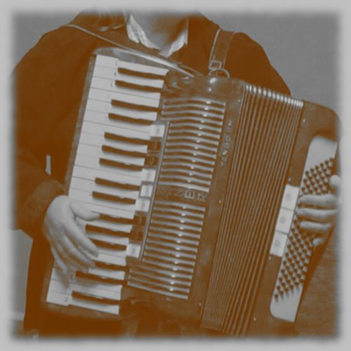 Old Photo Of Accordion