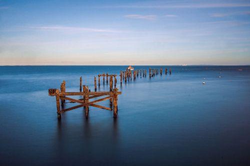 old pier,bay,coast,swanage,england