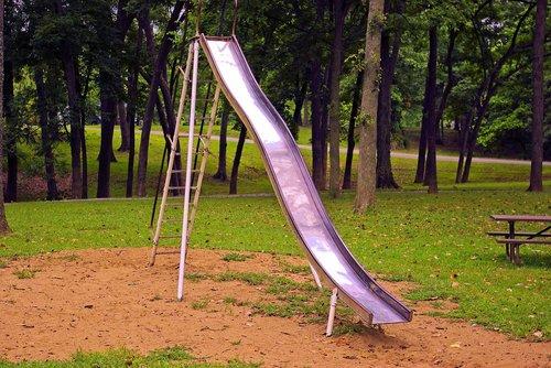 old playground slide  old  slide