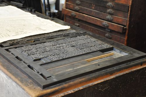 old print press press printing press