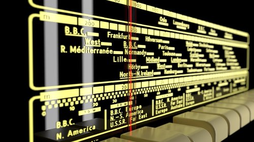 old radio  frequency scale  retro
