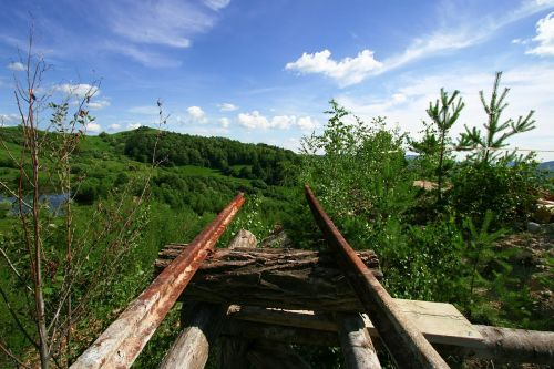 old railroad railroad end old mine