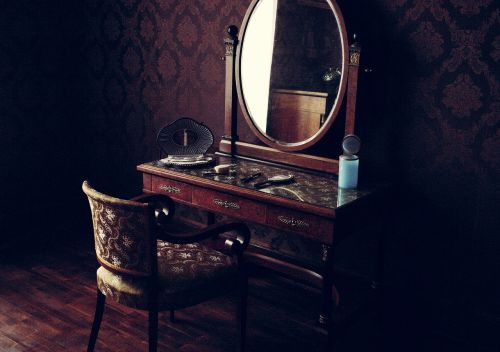 old room mirror interior