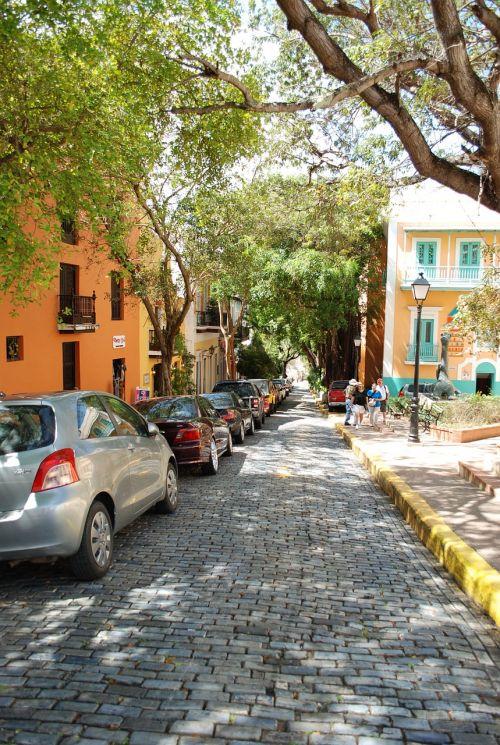 old san juan cobblestone streets puerto rico