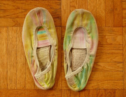 old shoes slippers parquet
