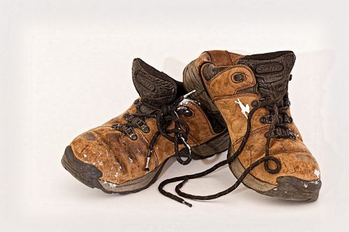 old shoes labourer footwear