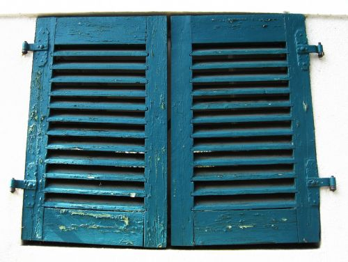 old shutters rustic old