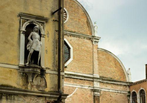 old statue niche italian
