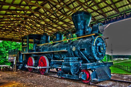 Old Steam Locomotive Engine