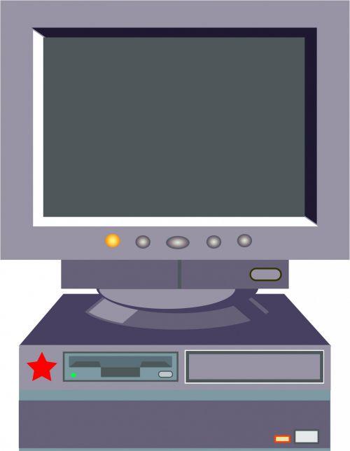 Old Style Desktop Computer
