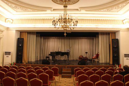 senas & nbsp, teatras, scena, instrumentai, senoji teatro scena su instrumentais