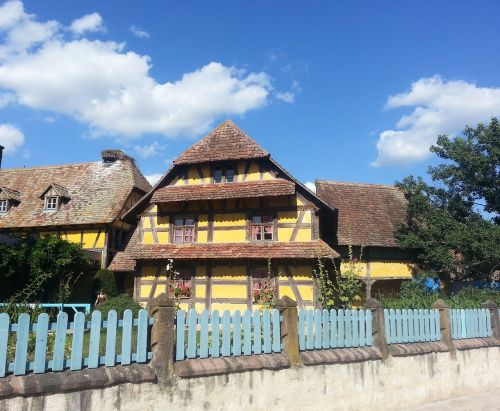 old timber-framed house vosges roof