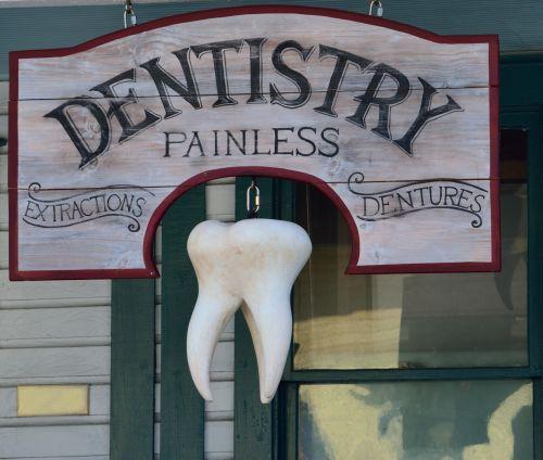 Old Time Dentist Sign