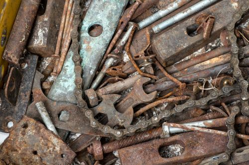 old tool spanner rusty
