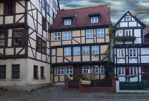 old town quedilnburg fachwerkhäuser