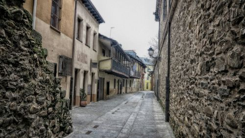 old town ponferrada typical houses