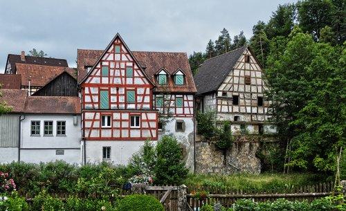 historic center  fachwerkhaus  historically