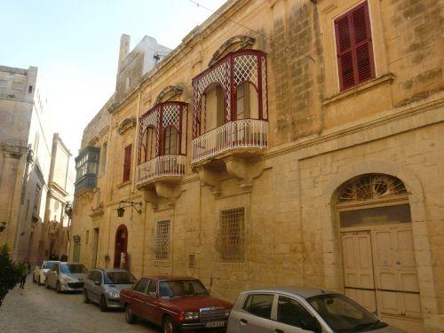 Senamiestis,malta,istoriškai,balkonas,pastatas,architektūra,blauzdykis,istorinis senamiestis