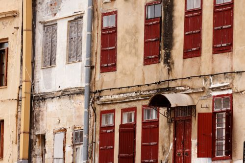 Old Town Houses In Greece