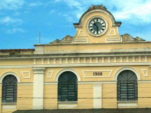 old train station station clock são carlos