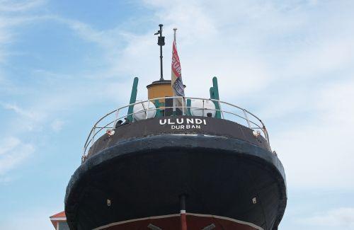 Old Tugboat On Display
