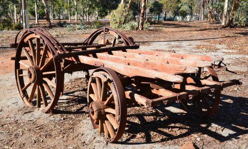old wagon rusty wagon