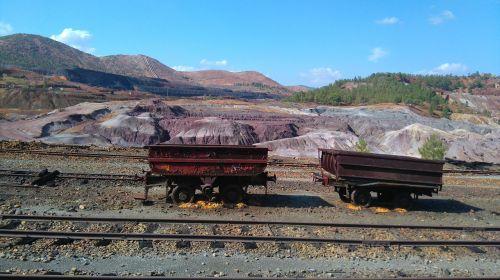 old wagons mines riotinto huelva