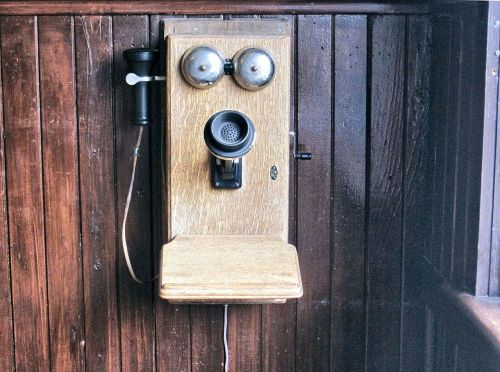 old wall crank telephone telephone antique
