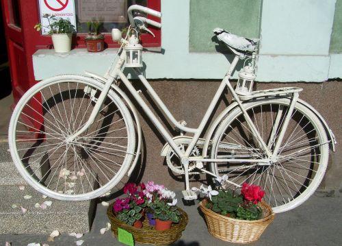 old white bicycle romanticism nostalgia