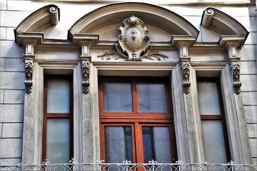old windows  facade  window sill