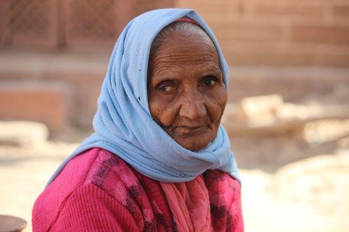 old woman elderly senior